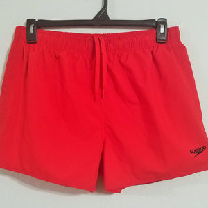 Speedo Mens Medium Red Swim Trunks Swimming Shorts